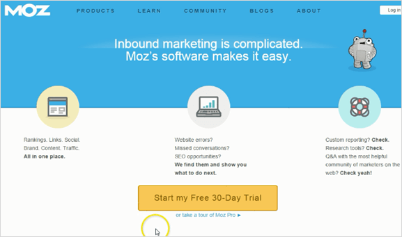 moz homepage button