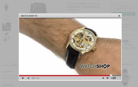 ecommerce video popup